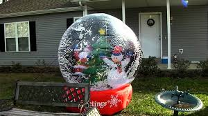 Home Depot Inflatable Outdoor Christmas Decorations Cute Inflatable Snowglobe Youtube