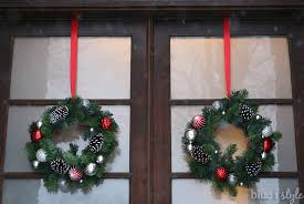 Target Wreaths Home Decor Seasonal Style Hanging Back To Back Wreaths On Glass Front Doors
