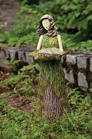 stunningly accessories fairy crouching ornament with garden light fairy