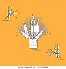 Kadomatsu New Year Decoration by Japanese New Year Home Decorations Kadomatsu Stock Vector