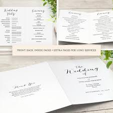wedding church program templates booklet wedding program template church order of service