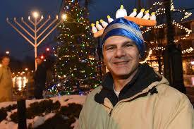 menorah hat menorah lighting held in delmar times union