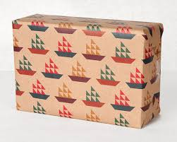manly wrapping paper sail boat pattern wrapping paper 12 sheets