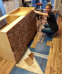 how to install kitchen island base cabinets a diy kitchen island make it yourself and save big