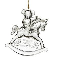 waterford crystal baby u0027s first christmas ornament 2016 silver