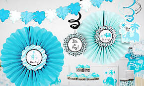 Safari Boy Baby Shower Ideas - baby shower decorations for boys party city