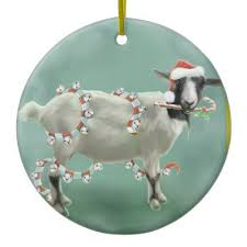 nubian goat santa hat ornament zazzle