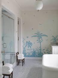 Bathroom Wall Mural  Cottage  bathroom  Phoebe Howard