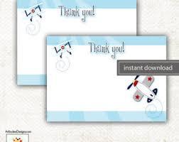 plane thank you card etsy