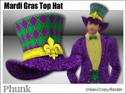 mardi gras hat second marketplace phunk mesh mardi gras top hat unisex
