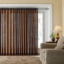 Sliding Door Curtain Ideas Banded Bamboo Panel Family Room Sliding Glass Door Home Is