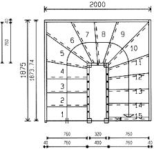 platzbedarf treppe grundrisse für treppen mit 2x1 4 wendung planungshilfe und grundriss