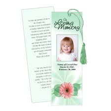 memorial bookmarks memorial bookmarks blossom memorial bookmark template