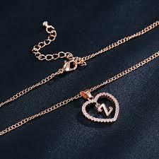 long heart pendant necklace images Online shop if me design z letter name necklaces pendant for jpg
