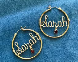 Hoop Earrings With Name Name Hoop Earrings