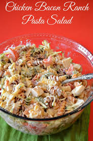 chicken bacon ranch pasta salad i cannot wait to try this yum