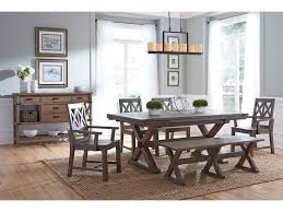 The Foundry Home Goods by Kincaid Furniture Foundry Rustic Solid Wood Dining Bench With
