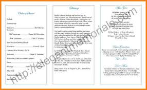 wording for funeral program 7 exles of funeral programs free invoice letter