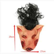 halloween scary creepy pig animal mask halloween costume party