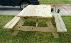 Free Picnic Table Plans 2x6 by All 2x6 Picnic Table Custom Made Furniture Pinterest Picnic