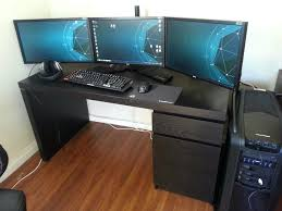 computer desks computer desk setup ergonomics two man forum