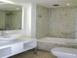 mosaic tiled bathrooms ideas like enclosed tub new home bath panel kick plate