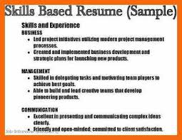 skills based resume sample some resume like skill based resume