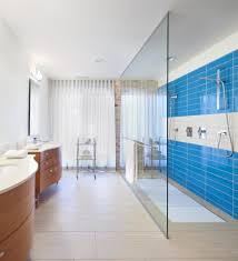 tile showers ideas with wood blinds corner shower white and gray
