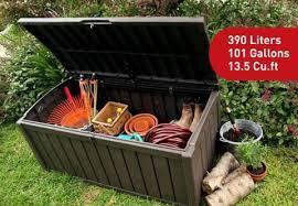 glenwood 101 gallon outdoor storage box brown keter target