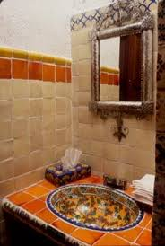 Mexican Tile Bathroom Ideas Colors Bathroom Using Mexican Tiles Green Blue Orange Red I Love That