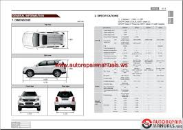 ssangyong new rexton y290 2012 06 service manuals and electric