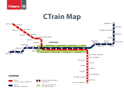 Montreal Metro Map by C Train Calgary Metro Map Canada