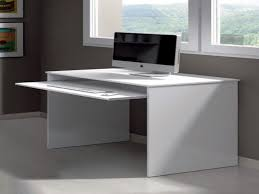 Corner Desk Keyboard Tray White Corner Computer Desk Creating A Modern Look Home Design