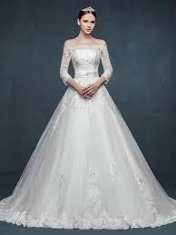 lace wedding dress with sleeves shoulder sleeves a line lace wedding dress jojo shop