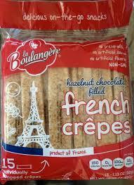 review la boulangère hazelnut chocolate filled crêpes