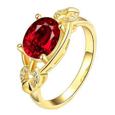 fashion golden rings images New fashion rings red stone cubic zirconia golden rings for women jpg