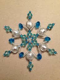 bead snowflake ornament very pretty gyöngyöm gyöngyöm