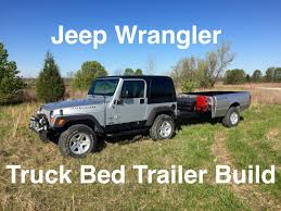 jeep trailer build off road truck bed trailer stabilizers and ladder rack youtube