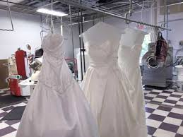wedding dress cleaning and boxing wedding gown