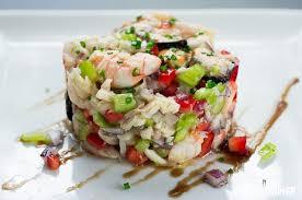 cuisine poisson recette de cocktail de poisson et fruits de mer salpicón de