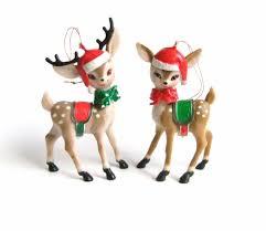 reindeer figurines reindeer ornaments plastic deer