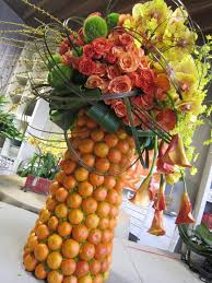 fruit floral arrangements seasonal fruit and floral centerpieces sortrachen