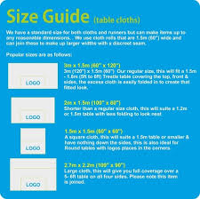 table runner size guide printed tablecloth size guide by marsh mill