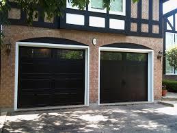 Garage Styles by Black Garage Doors For Modern Styles Interiordesignew Com