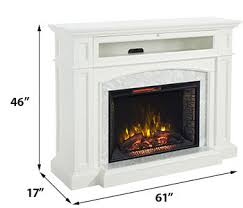 White Electric Fireplace Drew Infrared Electric Fireplace Tv Stand In White Cs 33wm1100 Wht
