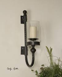 Decorating With Wall Sconces Amazing Hurricane Candle Wall Sconces 55 With Additional New