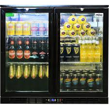 commercial double door bar fridge with energy saving parts