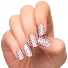 gooses glitter 4th of july nails red white blue burst for 4th of