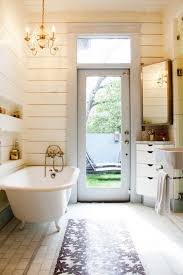planked airplane panels cottage bathroom apartment therapy