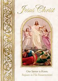 easter greeting cards religious of jesus our savior is risen easter